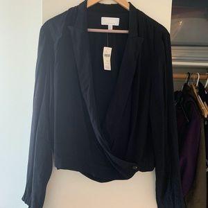 Anthropologie tuxedo style blouse